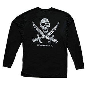 Yucatan Tiki Long Sleeved Performance T-Shirt Black