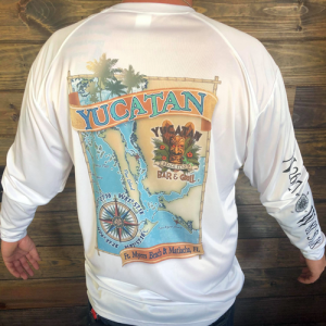 Yucatan Long Sleeve Performance Map T-Shirt